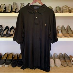 Black Polo Shirt 2XLT Black Shirt